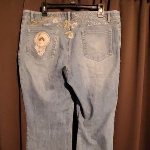 J.Jill vintage inspired embroidered jeans